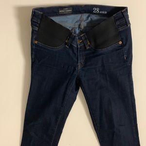 JCrew Maternity denim jeans.